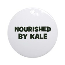 nourished by kale Ornament (Round)
