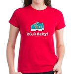 26.2 Marathon Runner Women's Red T-Shirt