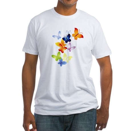 Butterfly Cluster Fitted T-Shirt