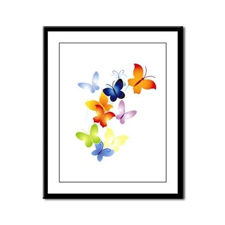 Butterfly Cluster Framed Panel Print