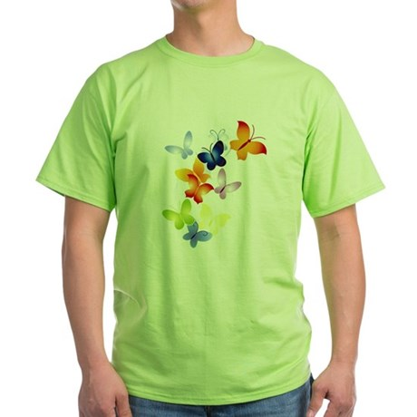 Butterfly Cluster Green T-Shirt