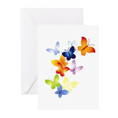 Butterfly Cluster Greeting Cards (Pk of 10)