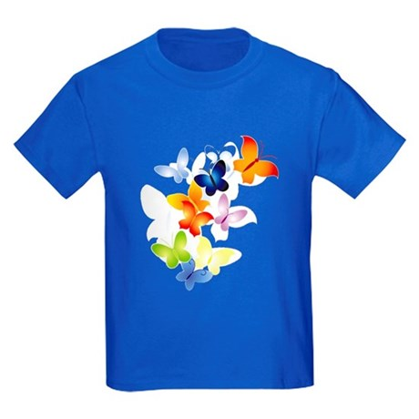Butterfly Cluster Kids Dark T-Shirt