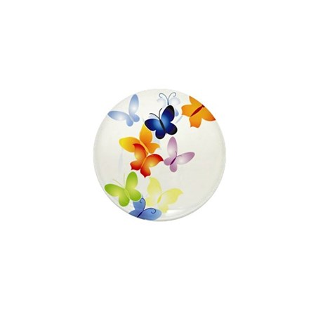 Butterfly Cluster Mini Button (100 pack)