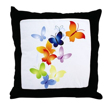 Butterfly Cluster Throw Pillow