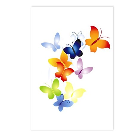 Butterfly Cluster Postcards (Package of 8)