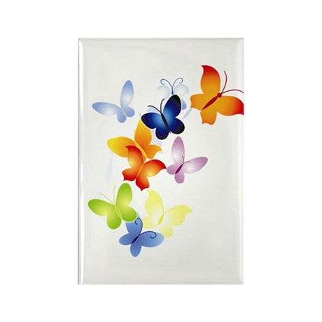 Butterfly Cluster Rectangle Magnet
