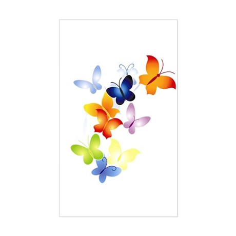 Butterfly Cluster Rectangle Sticker