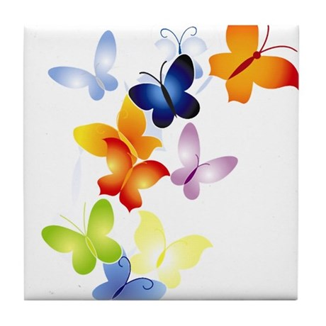 Butterfly Cluster Tile Coaster