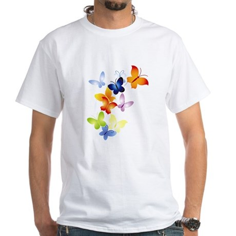 Butterfly Cluster White T-Shirt