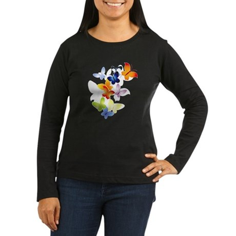 Butterfly Cluster Women's Long Sleeve Dark T-Shirt