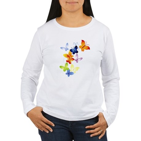 Butterfly Cluster Women's Long Sleeve T-Shirt