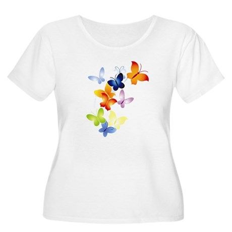 Butterfly Cluster Women's Plus Size Scoop Neck T-S