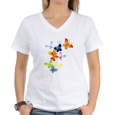 Butterfly Cluster Women's V-Neck T-Shirt