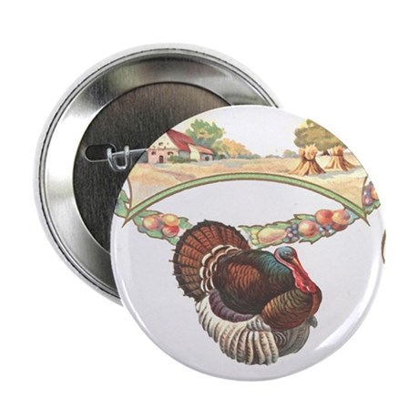 "Thanksgiving Turkey 2.25"" Button (10 pack)"