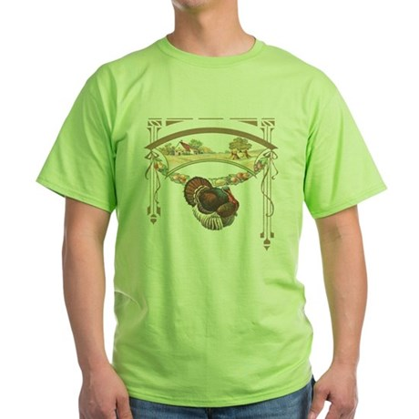 Thanksgiving Turkey Green T-Shirt