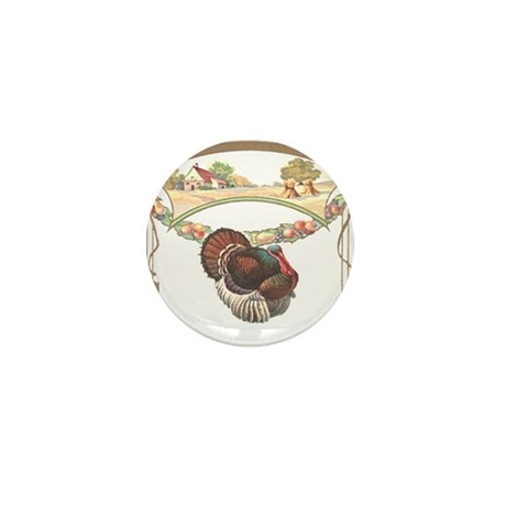 Thanksgiving Turkey Mini Button