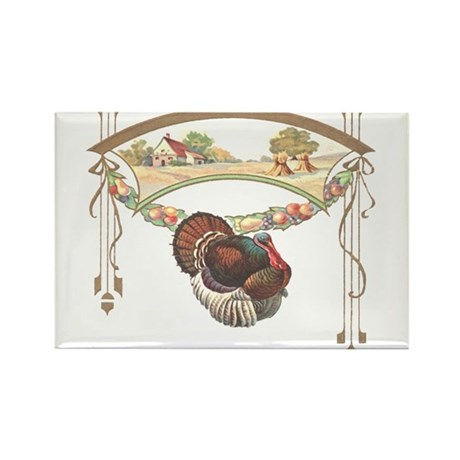 Thanksgiving Turkey Rectangle Magnet