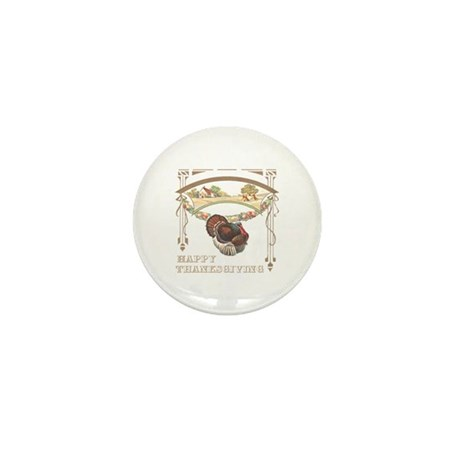Thanksgiving Turkey Mini Button (10 pack)