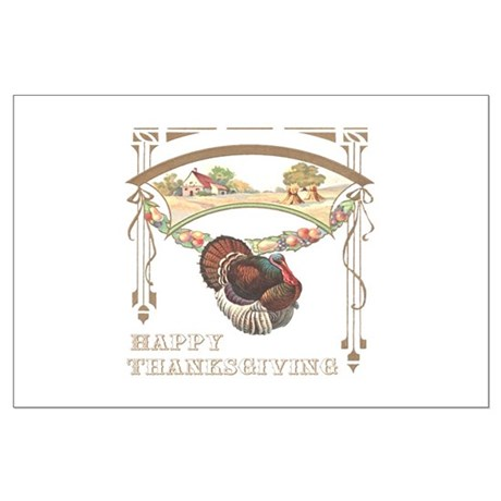 Thanksgiving Turkey Large Poster