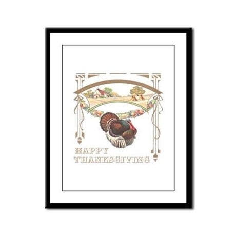 Thanksgiving Turkey Framed Panel Print