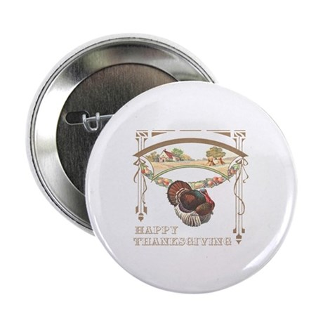 "Thanksgiving Turkey 2.25"" Button (100 pack)"