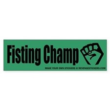 Fisting Champ - Revenge Car Sticker