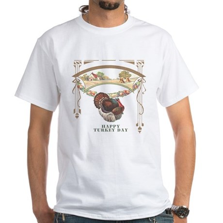 Turkey Day White T-Shirt