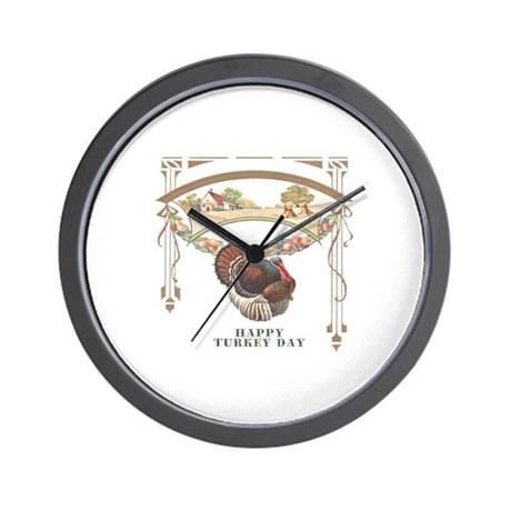 Turkey Day Wall Clock