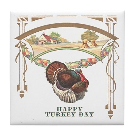 Turkey Day Tile Coaster