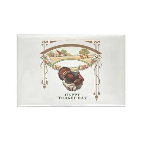 Turkey Day Rectangle Magnet (10 pack)