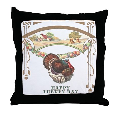 Turkey Day Throw Pillow