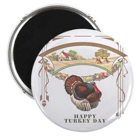 "Turkey Day 2.25"" Magnet (10 pack)"