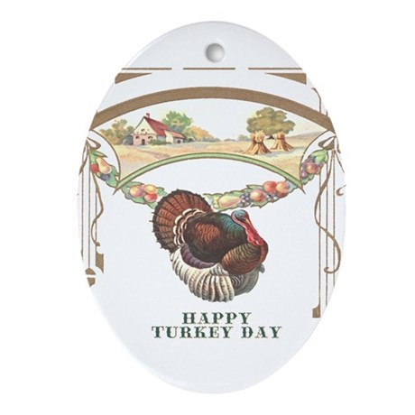 Turkey Day Oval Ornament