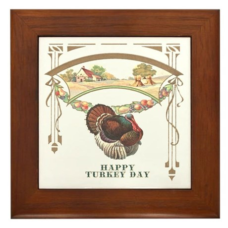 Turkey Day Framed Tile