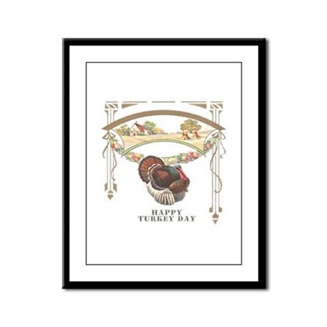 Turkey Day Framed Panel Print