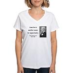 Ralph Waldo Emerson 31 Women's V-Neck T-Shirt