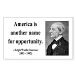 Ralph Waldo Emerson 31 Rectangle Sticker