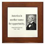 Ralph Waldo Emerson 31 Framed Tile