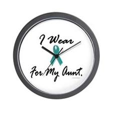 Wear Teal For My Aunt 1 Wall Clock