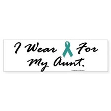 Wear Teal For My Aunt 1 Bumper Bumper Sticker