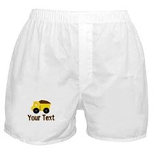Personalizable Dump Truck Brown Boxer Shorts