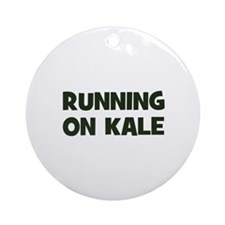 running on kale Ornament (Round)
