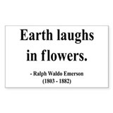 Ralph Waldo Emerson 33 Rectangle Decal