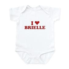 I LOVE BRIELLE Infant Bodysuit