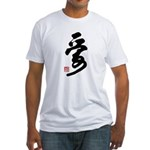 Chinese Love Calligraphy Fitted T-Shirt