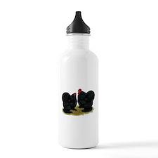 Cochins Black Bantams Water Bottle