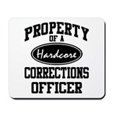 Hardcore Corrections Officer Mousepad