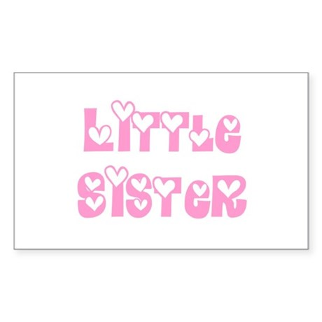 Little Sister Rectangle Sticker