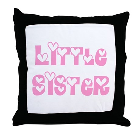 Little Sister Throw Pillow